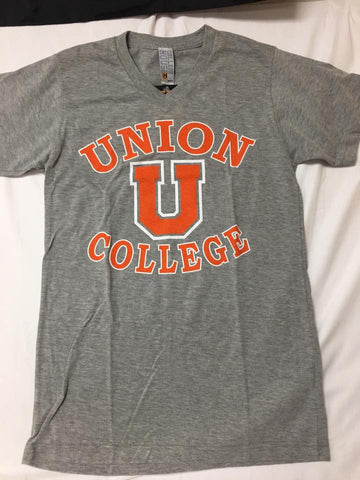 Gray Union  V-Neck Tee