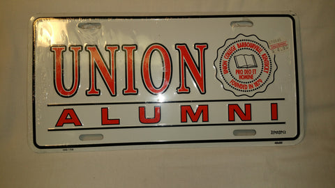 White UC Alumni License Plate