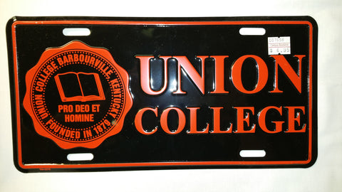 Black UC License Plate W/Seal