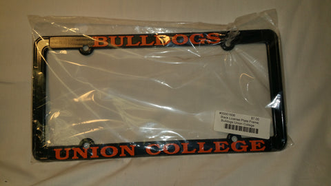 Black License Plate Frame, Bulldog UC