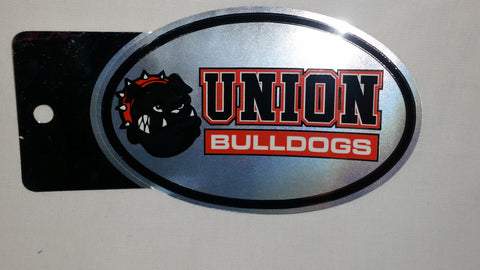 Oval Chrome Union Bulldogs Sticker