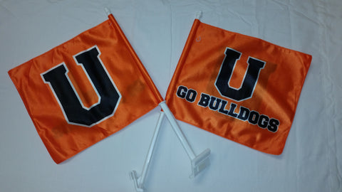 Orange U Car Flag