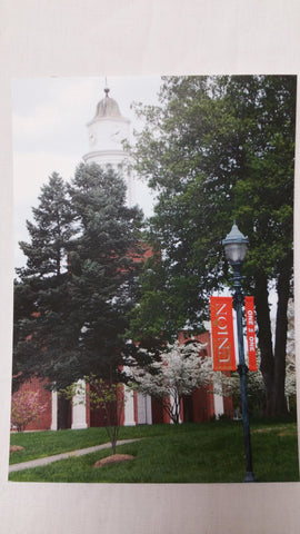 Spring time at the college postcard