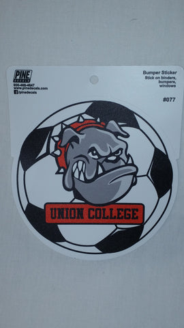 Pine Bulldog Soccer Decal
