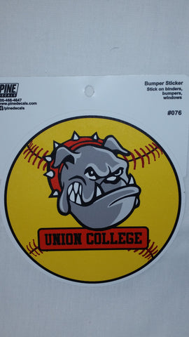 Pine Bulldog Softball Decal