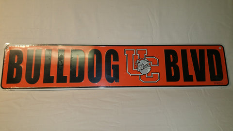 Bulldog Blvd Metal Sign