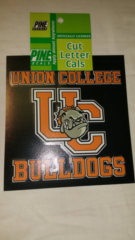 UC Bulldogs and UC Logo Sticker