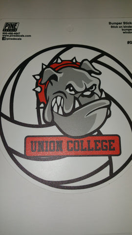 Pine Bulldog Volleyball Decal