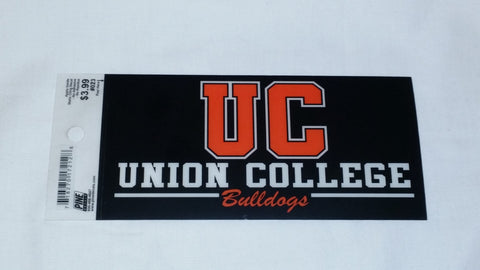 Black UC Union College Bulldogs Cling