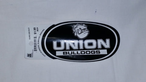 Black &White Union Bulldog Euro Sticker
