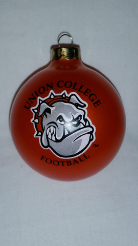 Orange Football Ornament