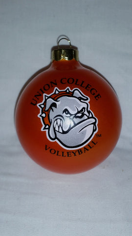 Orange Volleyball Ornament