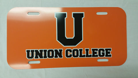 Union College U License Plate