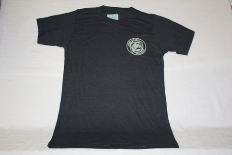 Men's Graphite Tri-Blend Circle Bulldog Logo Tee