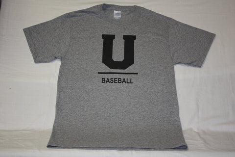 Gray U Baseball T-Shirt