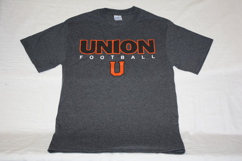 Dark Heather Gray Union Football U Tee