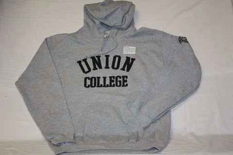 Union College Gunmetal Hooded Pullover