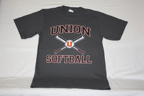 Charcoal Union Softball Tee