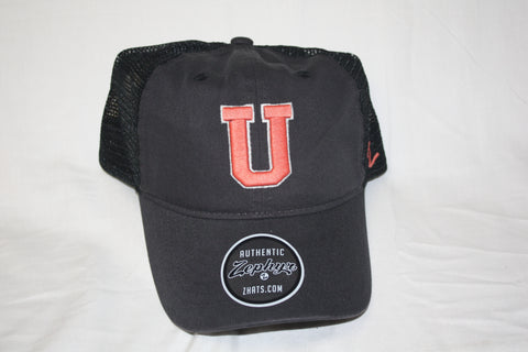 "Union College Raven ""U"" Black Z- Hat"