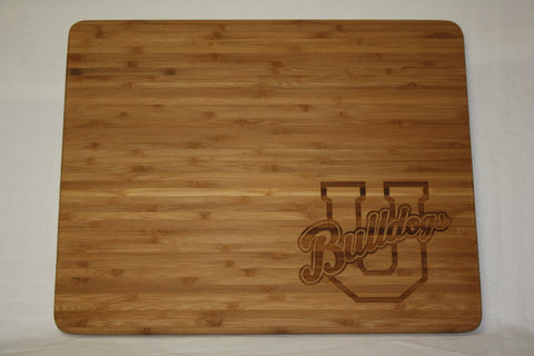 Bamboo Cutting Board w/ U Logo