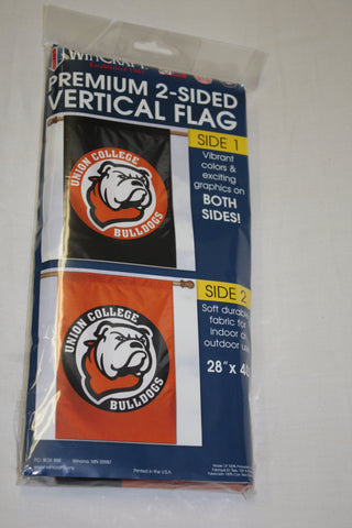 2-Sided Vertical Circle Bulldog Logo Flag