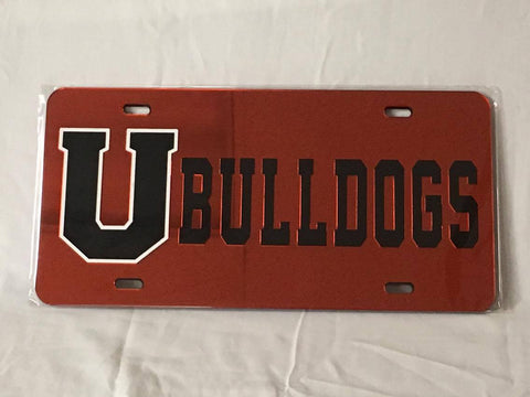 Bulldogs License Plate Mirror