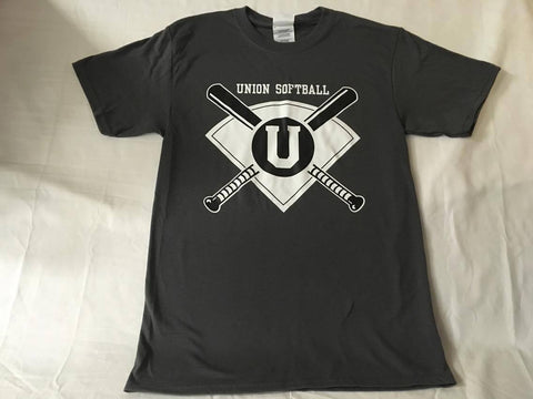 Crossed Bat Softball Tee
