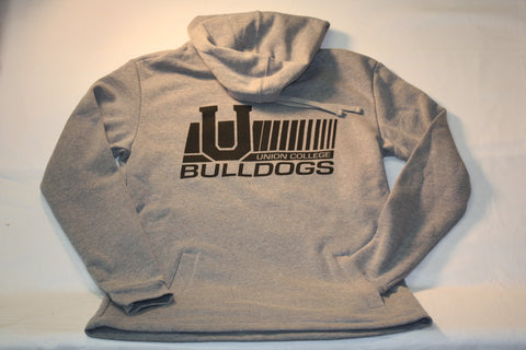 "Gray Open Bottom ""U"" Union College Bulldogs Hoodie"