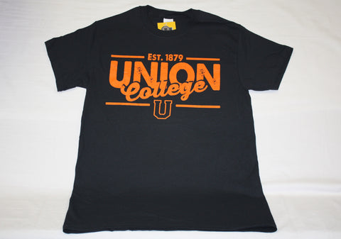 Black and Orange Est. 1879 Union College Tee