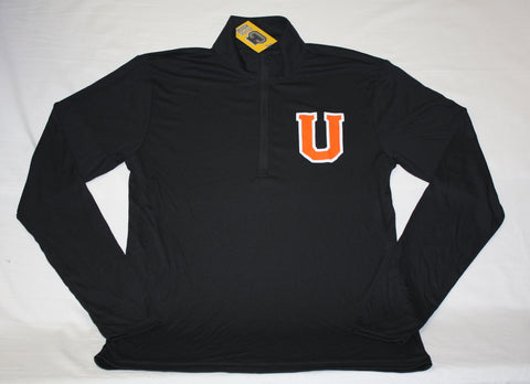 Black 1/4 Zip LST with U Logo