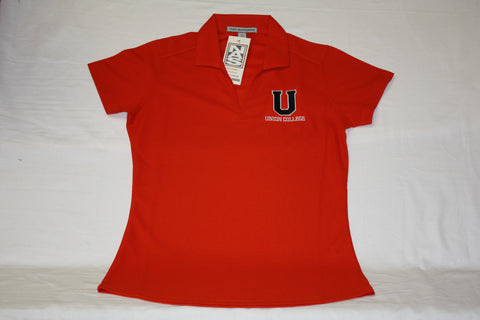 Ladies Orange Dry Zone U Polo