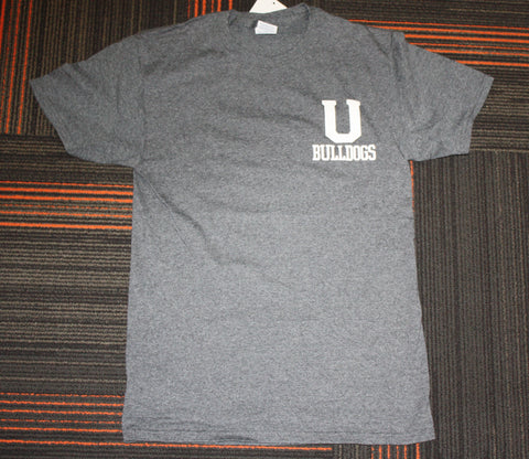 Black Heather U Bulldogs Tee