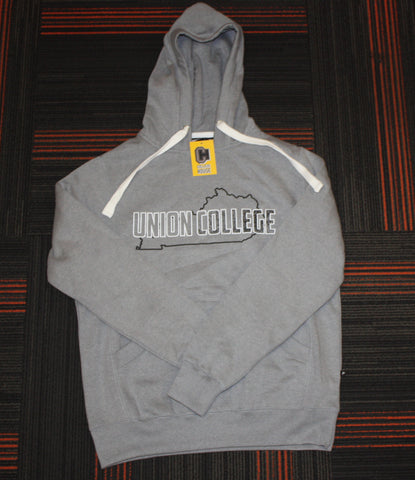 Retro Heather Grey Hoodie w/KY Outline
