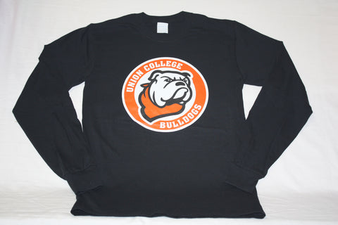 Jet Black Long Sleeve Circle Logo Tee