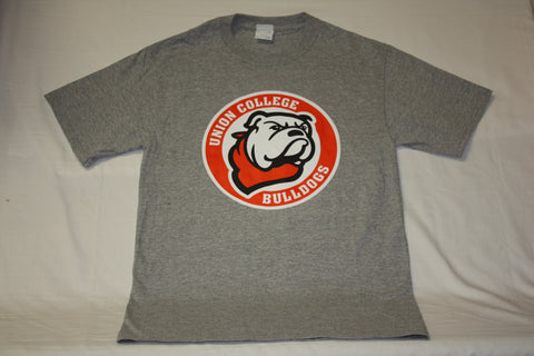 Gray Circle Bulldog Logo Tee