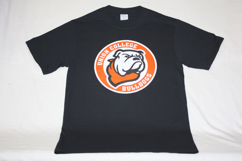 Jet Black Circle Bulldog Logo Tee