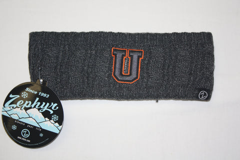 Union College Black/Gray U Knit Headband