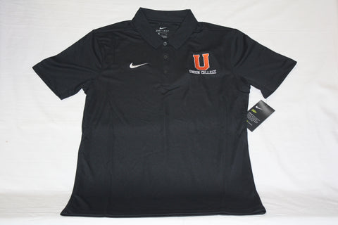 Black Dri-Fit Short Sleeve Polo with U Logo