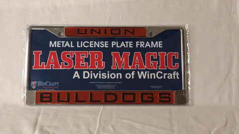Silver Union Bulldogs License Plate