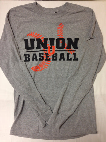 Baseball Grey Long Sleeve Tee