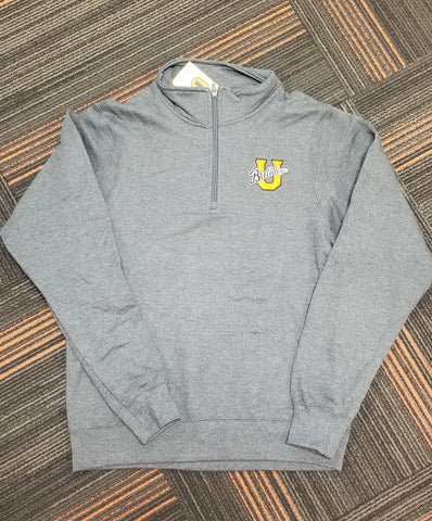 1/4 Dark Heather Grey Zip Pullover