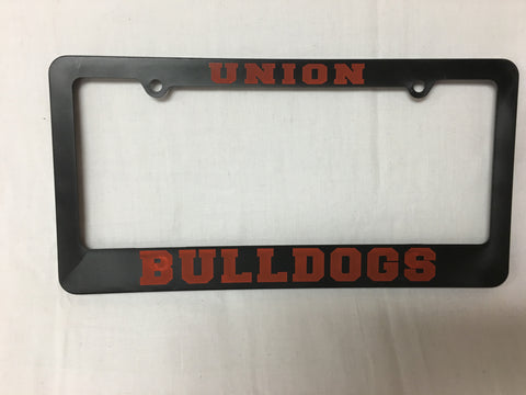 Black UC License Plate Holder