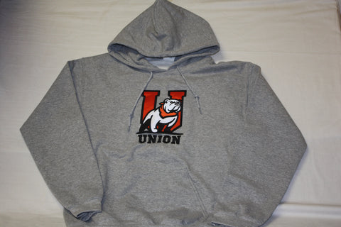 Heather Gray Bulldog U Logo Hoodie