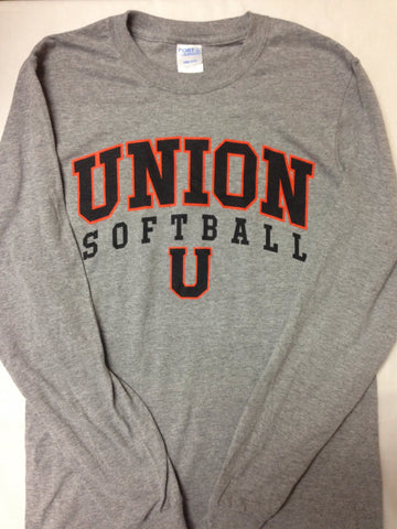 Softball Grey Long Sleeve