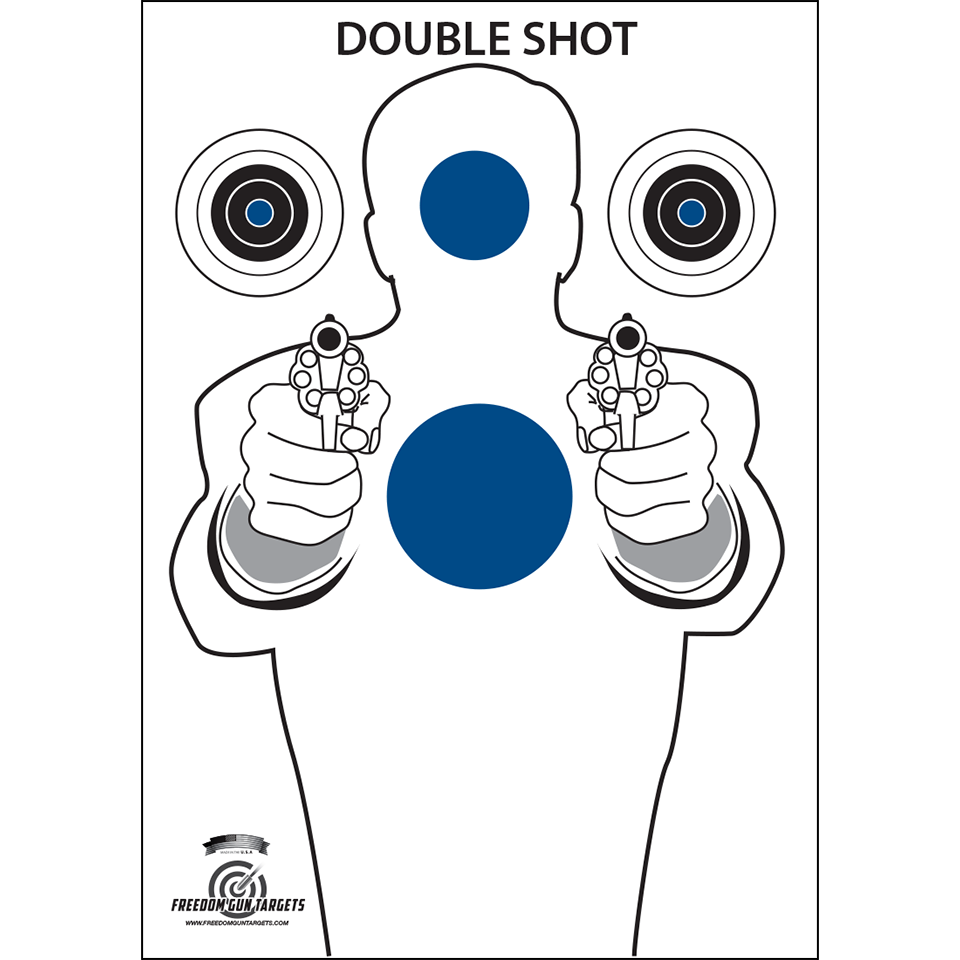 Blue Double Shot Silhouette Target