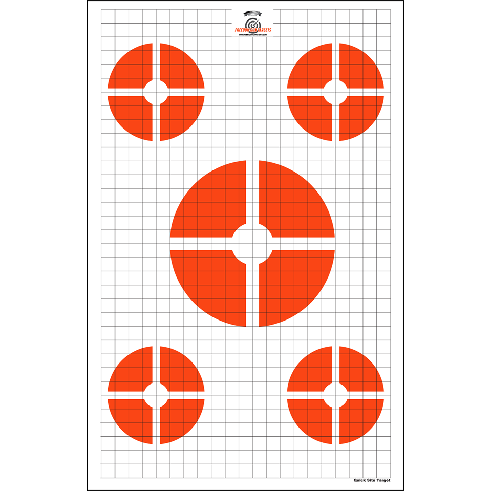 Red/Orange Quick Site Training Target