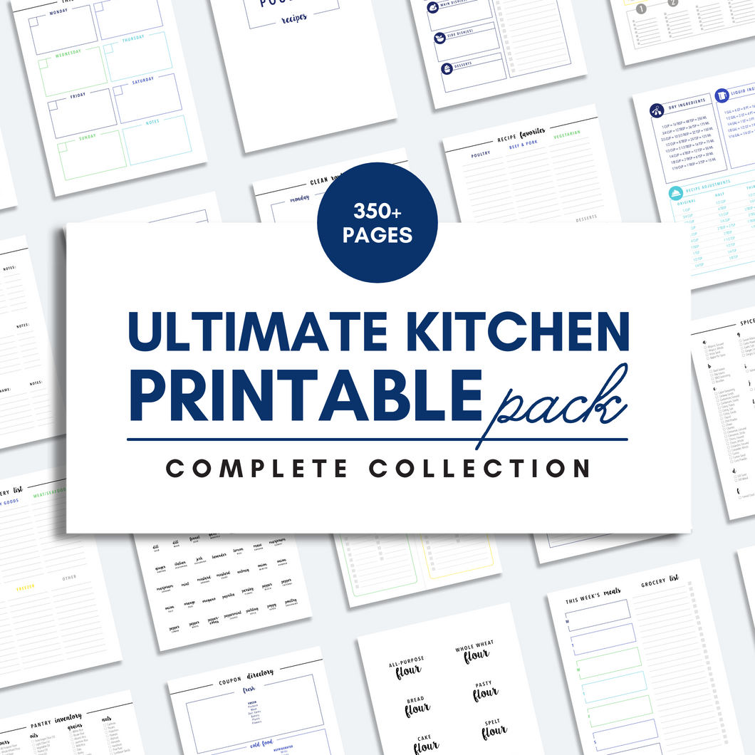 ULTIMATE KITCHEN Printable Pack