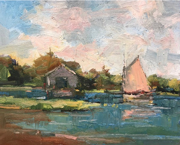 Boathouse with Cat