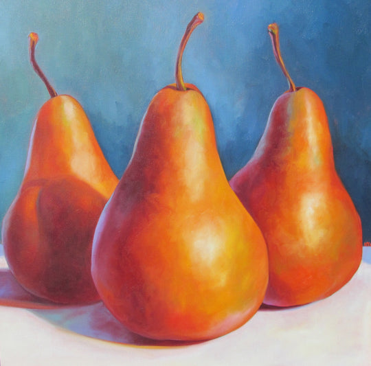 Three Pears in a Blue Place