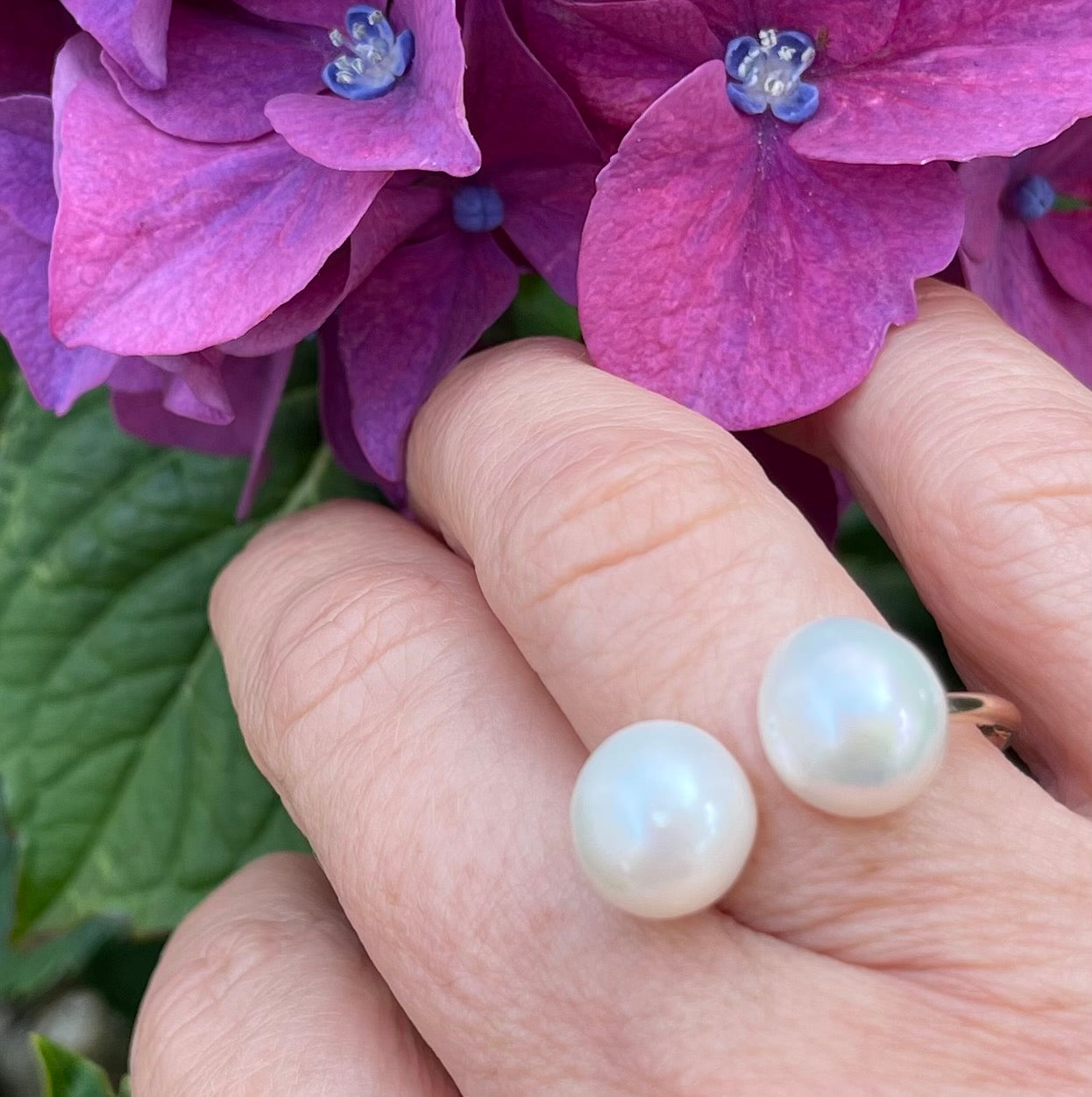 Double Pearl Ring #3